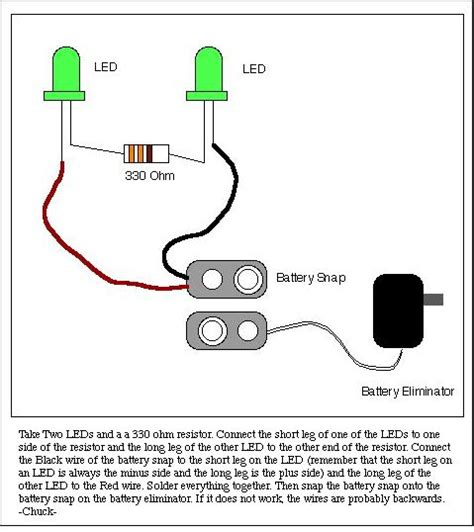 led resistor wiring diagram l e d for bucky