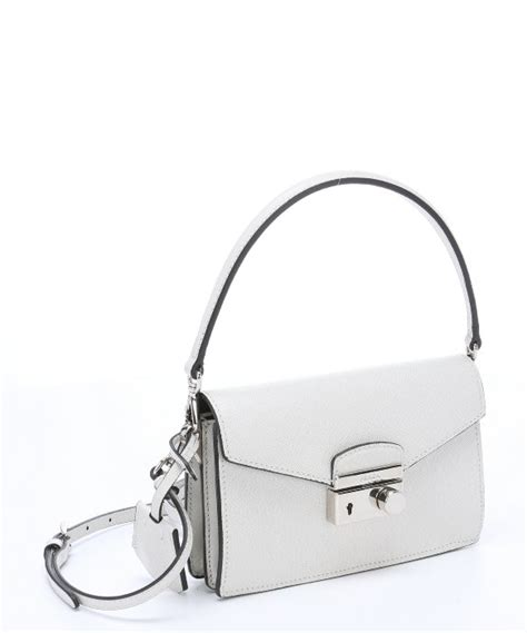 Convertible Mini Shoulder Bag prada white saffiano leather convertible mini shoulder bag