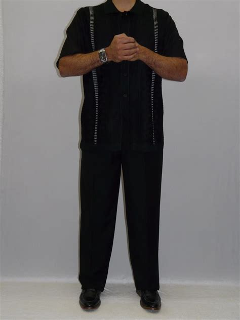 s silversilk two walking leisure suit knits