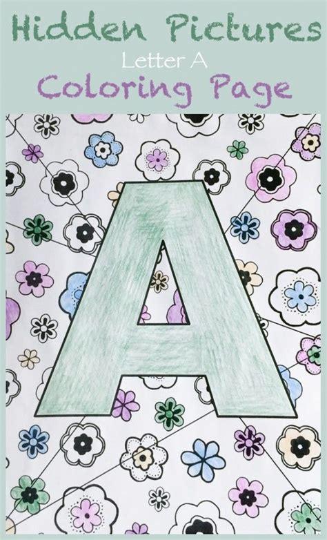 hidden letter pictures printable letter a hidden pictures coloring page picture letters
