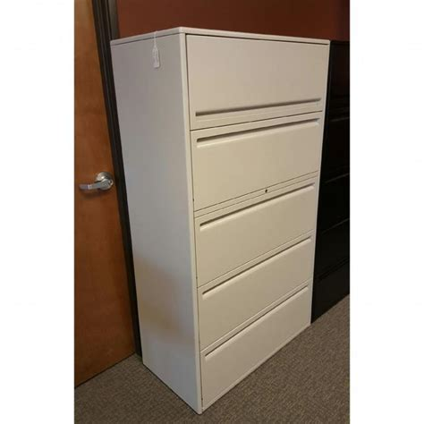 Haworth Lateral File Cabinet Used Haworth 5 Drawer Lateral File Cabinets 36 Quot Wide 950 Series