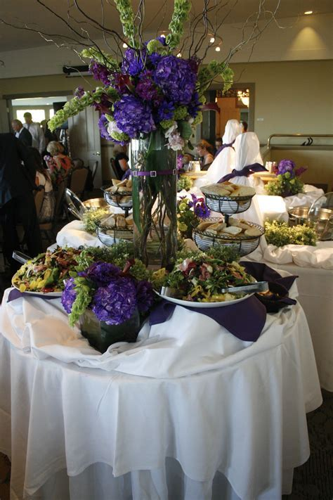 buffet table #wedding #purple #buffettable #weddingdecor