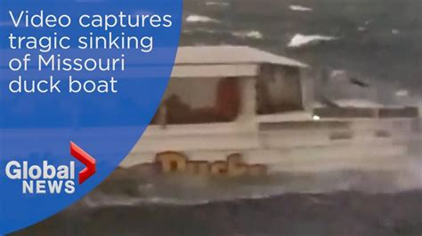 duck boat sinking video duck boat accident horrific video shows vessel capsizing