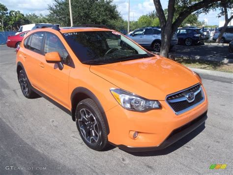 orange subaru crosstrek 2014 tangerine orange pearl subaru crosstrek 2 0i