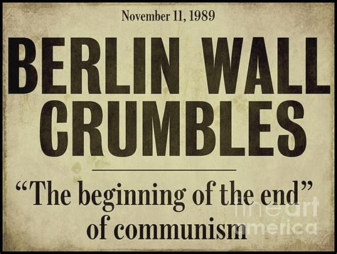 berlin wall newspaper berlin wall newspaper headline by sommers