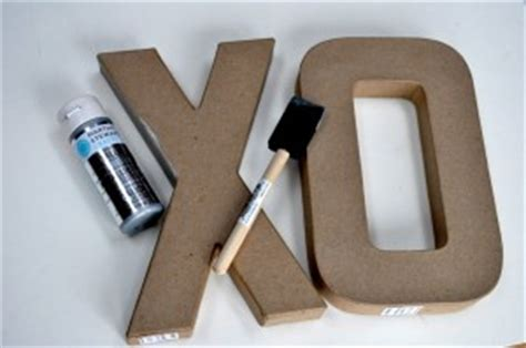 Faux Brushed Nickel Paint - faux brushed nickel letter tutorial make and takes