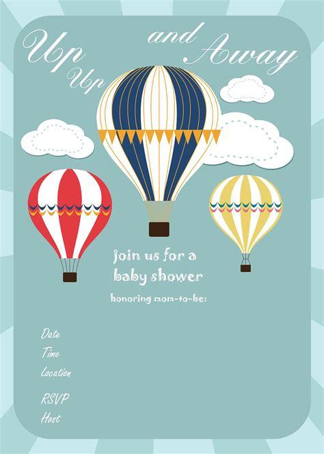 air balloon invitation template free printable baby shower invitations baby shower ideas