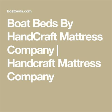 Handcraft Mattress Company - 25 best ideas about boat beds on boy beds