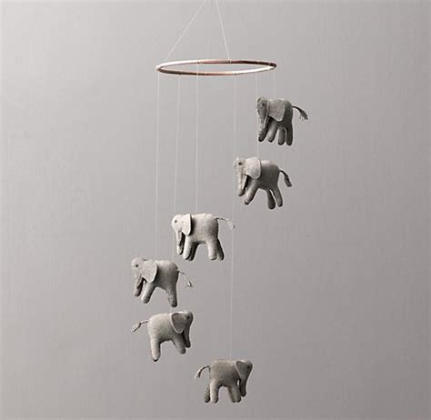 elephant mobile wool felt elephant mobile