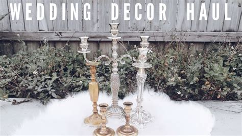 Thrift Store Wedding Decor Haul   Janessa Schwarm   YouTube