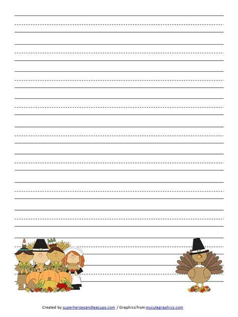free thanksgiving writing paper thanksgiving handwriting paper free printable