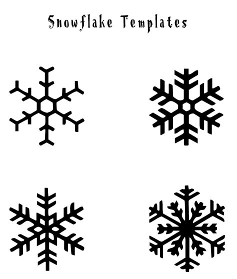 printable snowflakes small free printable snowflake templates google search 1st