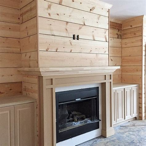 Shiplap Fireplace Wall Shiplap Feature Wall Going To Look A Lot Different Once