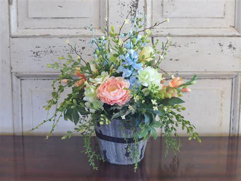 home decor silk flower arrangements spring silk flower arrangement roses ranunculus freesias