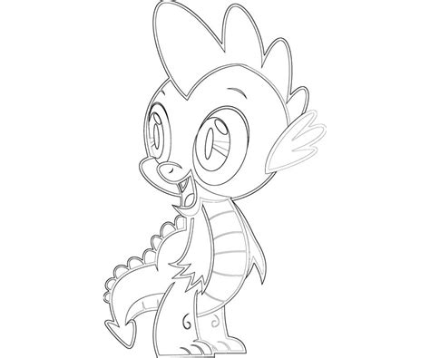 Free Coloring Pages Of Spike The Dragon My Pony Coloring Pages Spike