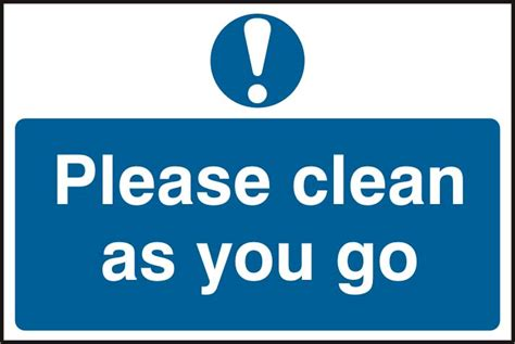 As You Go clean as you go self adhesive pvc sign clean as you go self adhesive pvc sign
