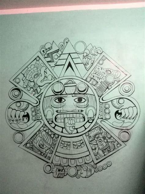 Tattoo Flash Calendar | aztec calendar by anickzamantha on deviantart pinteres