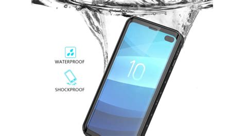 samsung galaxy s10 plus waterproof ip68 certified cover with built in screen protector