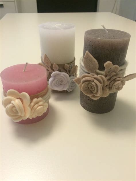 decorazioni con candele candele con in feltro candles