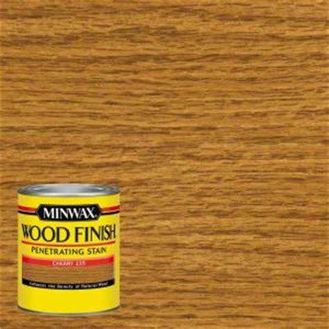minwax 1 qt wood finish cherry based interior stain