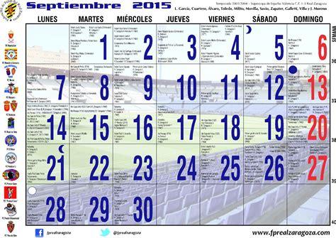 Calendario Zaragoza 2015 Disponible Calendario Solidario Zaragocista 2015