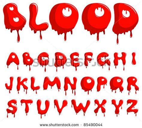 tattoo font blood bloody font vector blood alphabet is isolated on a white