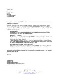letter explaining family and medical leave template