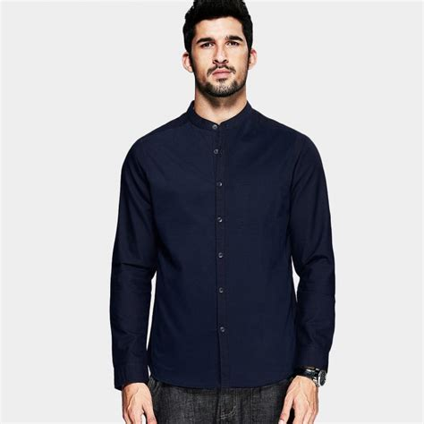 dress shirt picture more detailed picture about asian style dresses kuegou asian collar dress shirt navy fc 5866 0cm