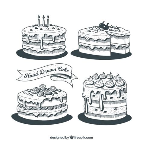 black and white birthday cake collection of black and white birthday cakes vector free