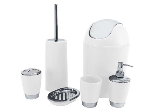 M And S Bathroom Accessories 6 Bathroom Accessory Set Bin Soap Dish Dispenser Tumbler Toothbrush Holder C A M B R I D