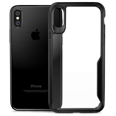 olixar novashield iphone xs max bumper black