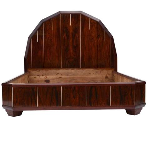 deco bed deco bed made of palisanderwood for sale at 1stdibs