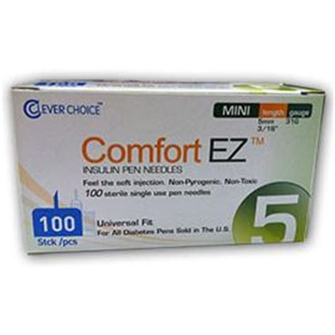 comfort ez pen needles comfort ez pen needles mini 31g 5mm 3 16 quot bx 100