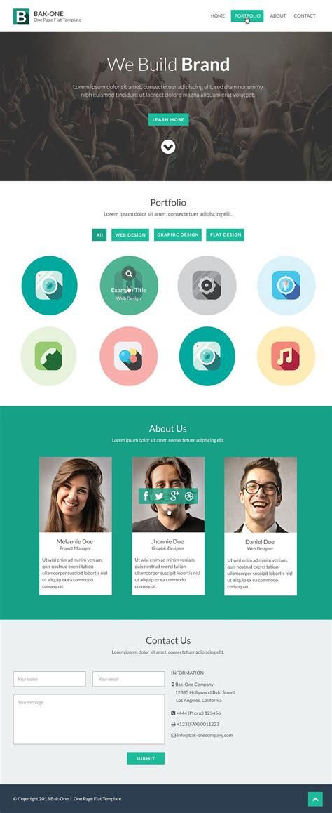 trans free psd website template