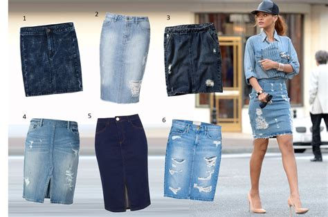 here there everywhere the distressed denim skirt