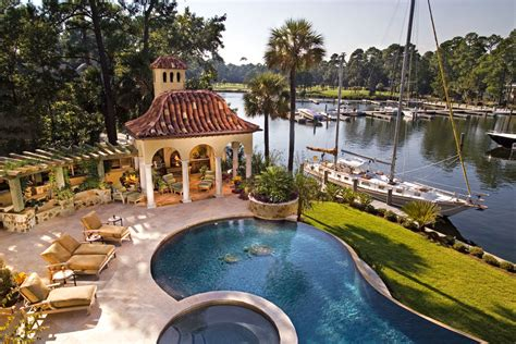 mediterranean pool south carolina home tour take a rare glimpse into this