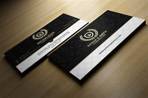 Black And Gold Business Card Templates Free by Golden Business Card O Jpg 1413760822