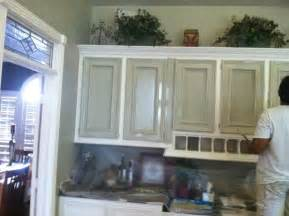 kitchen faux painted cabinets rustic kitchen houston