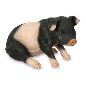 Privacy Lattice Trellis Black Amp Pink Piglet Figurine Ornament Pig Animal Statue