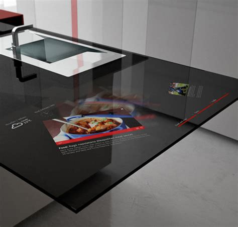smart kitchen by toncelli with built in samsung galaxy tablet