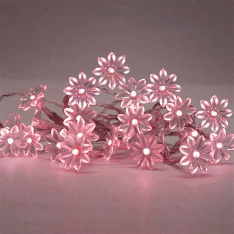 battery operated decorative lights battery operated led lights in pink with decorative