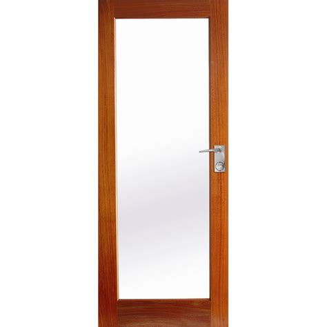 Exterior Doors Bunnings Hume Doors Timber 2040 X 820 X 40mm Joinery 1lite Entrance Door With Clear Glass