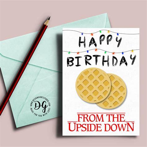 upside down card stranger things birthday card stranger things christmas