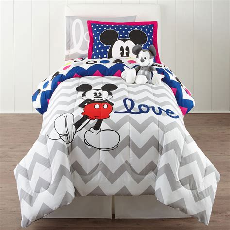 mickey mouse comforter set full buy disney collection mickey mouse chevron twin full