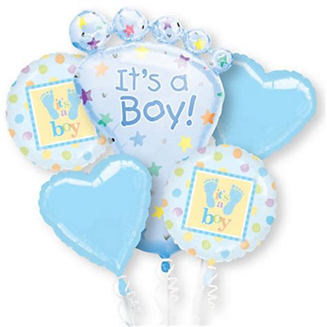 baby boy shower balloons it s a boy bouquet baby shower mylar balloon
