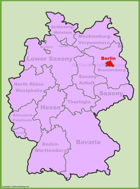 berlin germany map berlin location on the germany map