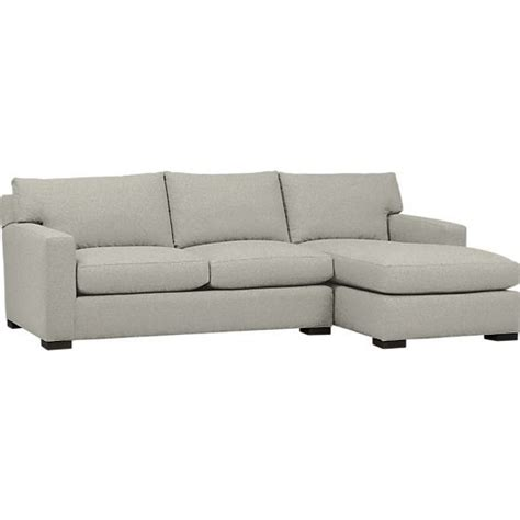 axis sectional sofa axis 2 piece sectional sofa in sectional sofas crate and