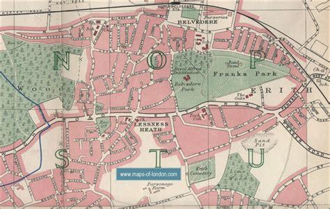 kent cus map 1988 map of erith london