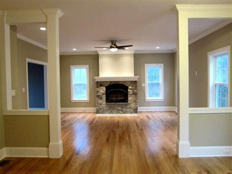liking the half walls basement garage remodel ideas family room wood trim molding ideas pinterest wall