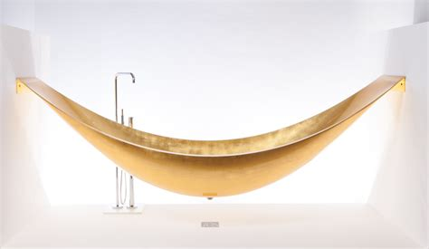 hammock bathtub gold vessel hammock bath tub to soak in the lap of luxury